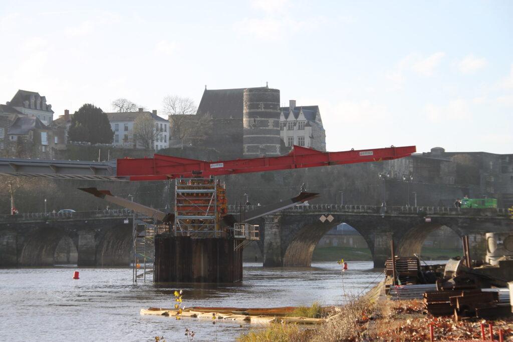 Travaux pont à Angers