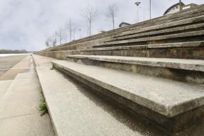 Escalier du front de maine à Angers
