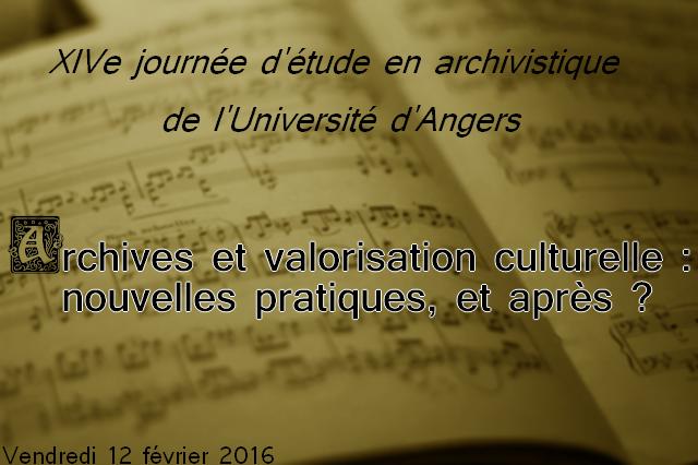 Journée Archivistique Angers