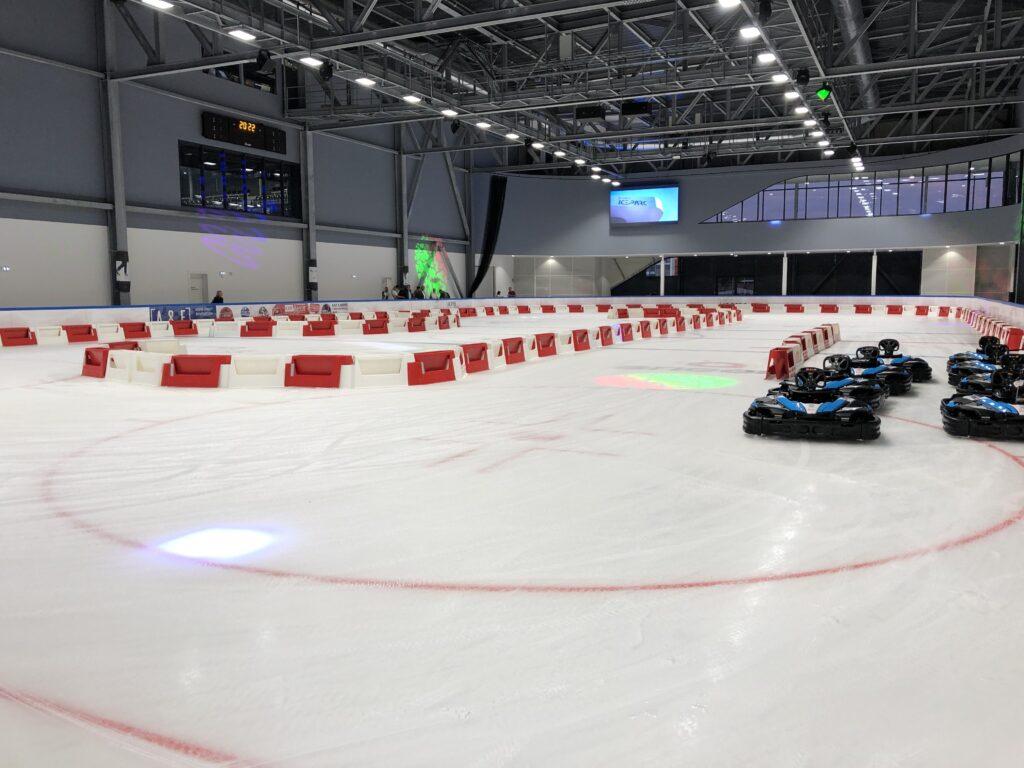 karting sur glace à la patinoire angers iceparc