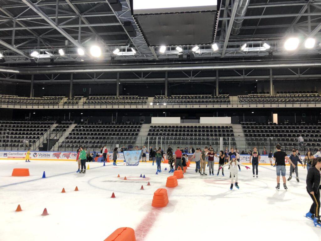 patinage à la patinoire angers iceparc