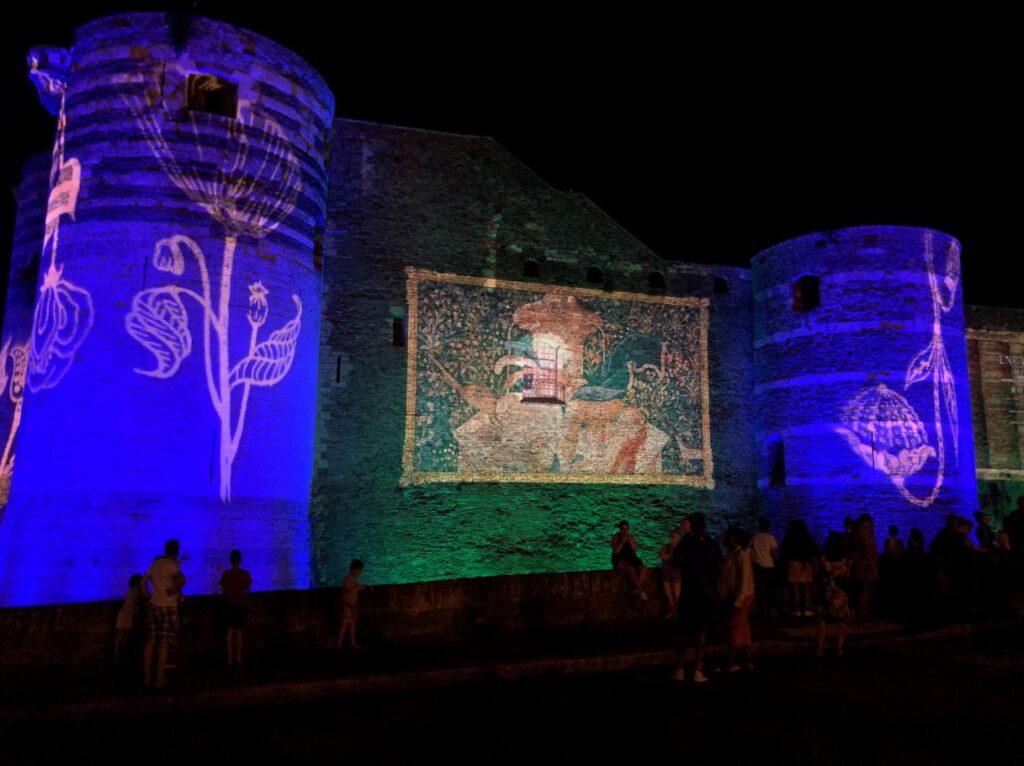illuminations au château d'angers