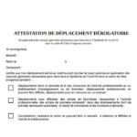 attestation de deplacement a angers